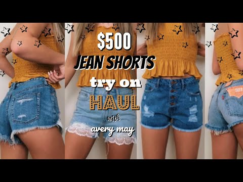 $500 jean shorts try-on haul (Brandy Melville, Levis, Forever21, and more!)
