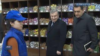 Шавкат Мирзиёев проверил цены в магазине