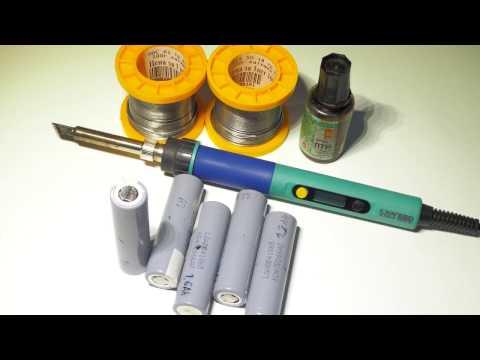 Пайка литиевых  аккумуляторов 18650 Li-ion без перегрева.
