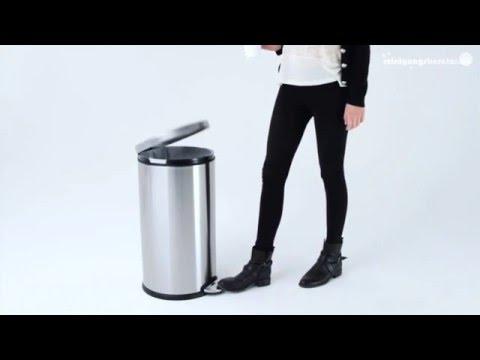 Treteimer rund von Simplehuman bei www ReinigungsBerater de