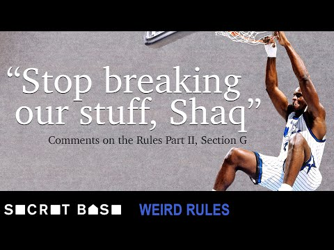 Shaq broke so many baskets that the NBA had to change their rules