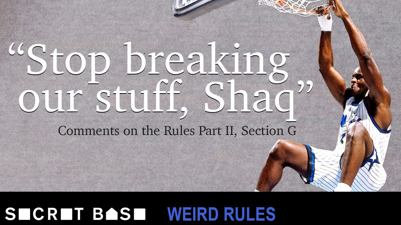 Shaq broke so many baskets that the NBA had to change their rules   Weird Rules thumbnail