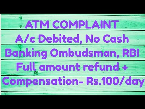 ATM Transaction Failed | declined Amount debited Cash | Money not received  SBI | HDFC | Complaint - Investment World