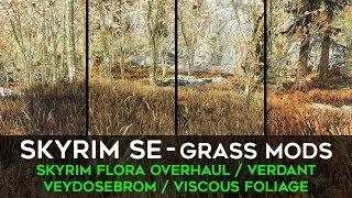 Skyrim SE   Grass Mods: Skyrim Flora Overhaul, Verdant, Veydosebrom, Viscous Foliage
