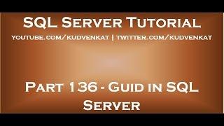 Guid in SQL Server