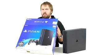 Распаковка PS4 Pro