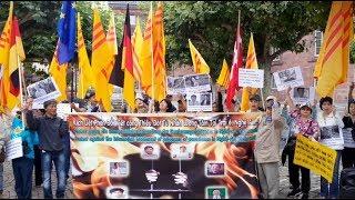 Biểu Tình lên án cộng sản VN hành hạ ác độc với các tù nhân lương tâm tại trại 6 Nghệ An 13.07.2019