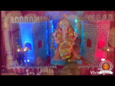 Vinod Rasal Home Ganpati Decoration Video