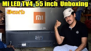 Mi LED TV4 Smart TV 55 inch Unboxing | in Telugu | Tech-Logic