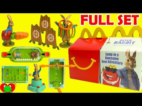 2018 Peter Rabbit Movie McDonald's Happy Meal Toys