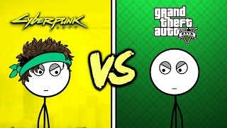 GTA V Gamers VS Cyberpunk 2077 Gamers