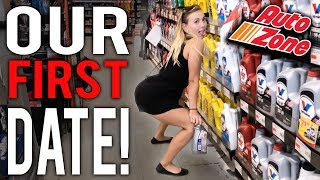 Our FIRST DATE at AUTOZONE!