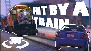 Hit By A Train In Virtual Reality! | A 360° Experience | GTA VR