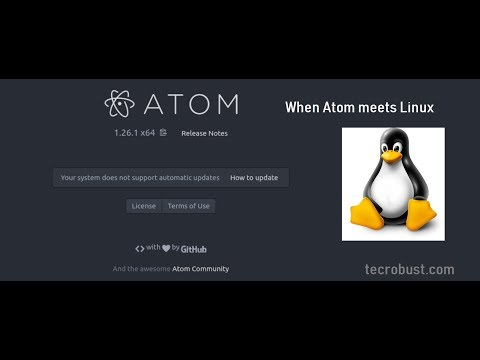 Video Tutor:Install Atom Text Editor on Linux Ubuntu 18 04 2 LTS