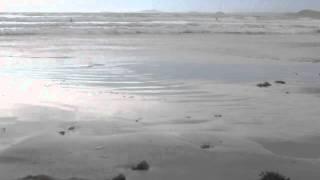 Sea waves on Newgale beach ~ Coastal Hoilday in Pembrokeshire Wales UK