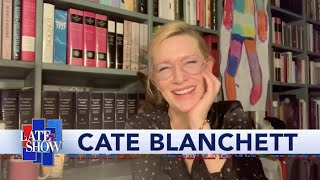 Cate Blanchett Has Some Suggestions For Stephens At-Home Late Show Set