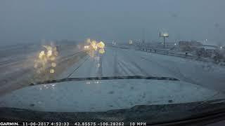 Dashcam Captures Scene of 16-Vehicle Crash in Casper