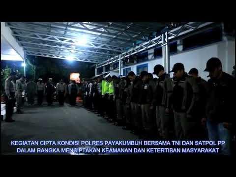 Selamatkan Generasi Muda!!! Polres Payakumbuh Gelar Cipkon Gabungan Bersama TNI Dan Satpol PP Pyk