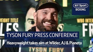 Tyson Fury on top-form! Full press conference from Belfast ahead of Fury vs Pianeta - Video Youtube