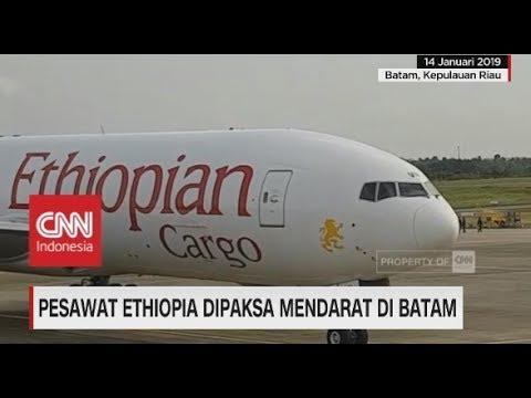 Pesawat Ethiopia Dipaksa Mendarat di Batam