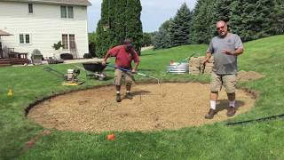 How To: Build And Install Block Fire Ring And Flagstone Patio