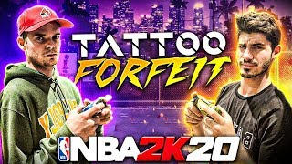 Loser Gets TATTOO!! NBA 2K20 Challenge vs MOPI