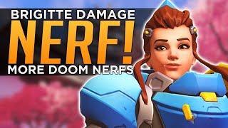 Overwatch: HUGE Brigitte Damage NERF! & MORE Doomfist NERFS!