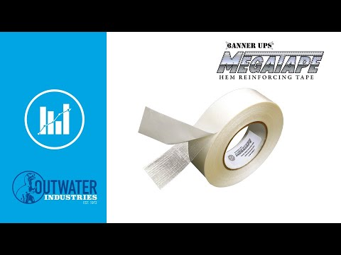 Banner Ups | 1-1/2in | Clear MegaTape for Hemmed Vinyl Banners | 90ft Roll