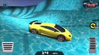 tròi chơi đua xe trong ván trượt nước đóng băng cu lỳ chơi game lồng tiếng Frozen Water Slide Car