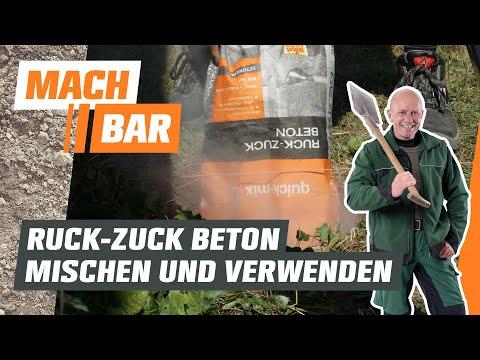 Ruckzuck-Beton mischen und verwenden | OBI