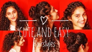 5 Easy Hairstyles For Girls!!!! | Curly Hairstyle | Shruti Amin