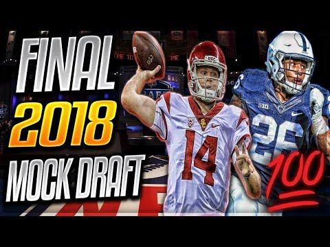 FINAL 2018 NFL MOCK DRAFT   100% Correct Picks