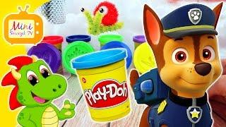 Psi Patrol Paw Patrol Chase Ciastolina Play Doh Nauka i Zabawa Kolory Filmik Dla Dzieci Po Polsku