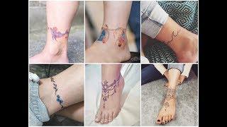 50 Gorgeous Ankle Bracelet Tattoo Design Ideas