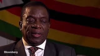 Emmerson Mnangagwa interviewed on bloomberg