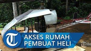 Jalan Setapak Berliku Menuju Kediaman Pembuat Helikopter di Sukabumi