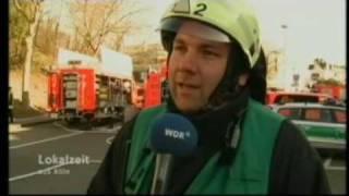 preview picture of video 'WDR Lokalzeit Köln vom 15.02.2008 - Einsatz Feuerwehr Bergisch Gladbach'