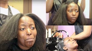 SALON VISIT | BLOW DRY & TRIM 4C HAIR | NATURAL HAIR SALON EXPERIENCE (kandidkinks)