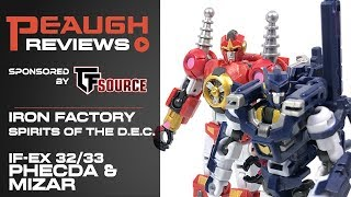 Video Review: Iron Factory IF-EX32/33 Spirits Of The D.E.C. PHECDA & MIZAR