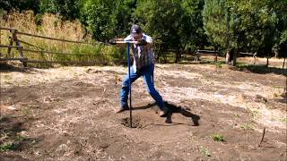 Digging A Well With A Post Hole Digger