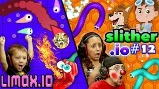 WHO'S RUSTY?? Slither.io vs. Limax.io (Another copycat or better?) w/ FGTEEV DUDDY, Lex & Chase!
