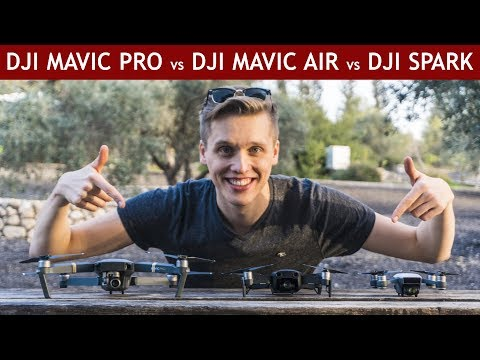 DJI Mavic Air vs. DJI Mavic Pro vs. DJI Spark | Drone Comparison