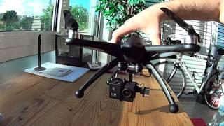 Black Walkera QR X350, Fiber Props, Walkera G-2D Gimbal 1st Gen, SJ4000 camera