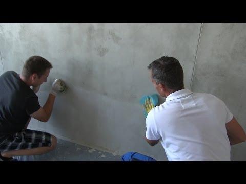 Aplikace betonové omítky
