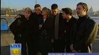 Boyzone - GMTV Meet a fan and perform Coming Home Now outside the studio