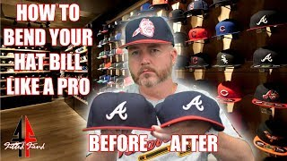 HOW TO BEND YOUR HAT BILL LIKE A PRO !!! PERFECT CURVE !!! FITTED FIEND EP. 22