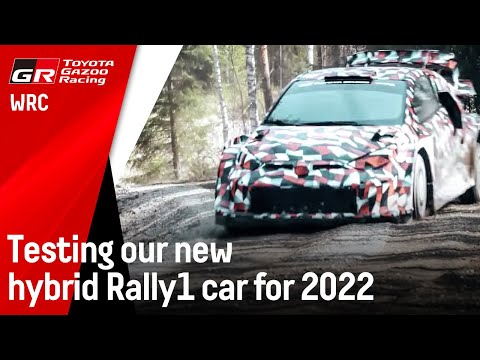Testing our new hybrid Rally1 car for 2022