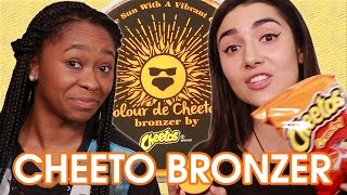 Cheeto Bronzer vs Actual Cheetos • Saf & Freddie