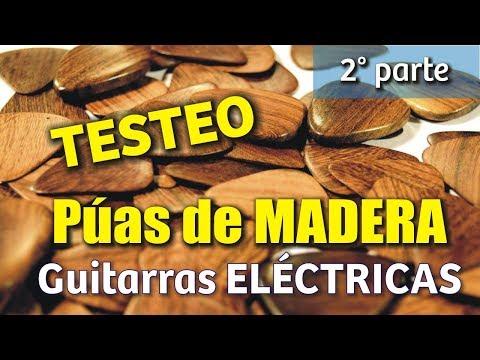 Testeo Púas de Madera Skarbun 2da parte en guitarras eléctricas
