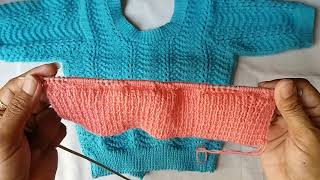 Blouse knitting design - part - 1